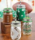 Idea Market Go Team & Football Mason Jars