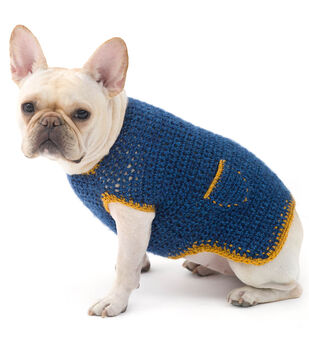 How To Make a  Lion Brand Heartland the Casual Friday Dog Sweater