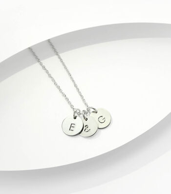 How To Make a Gold Initial Hand Stamped Necklace