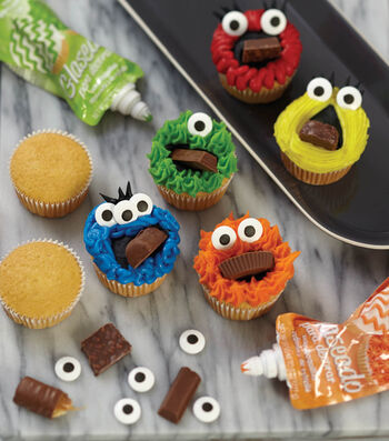 How To Make Monster Mouthful Cupcakes