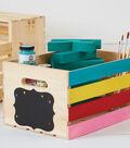 Wood Crate Organization Station