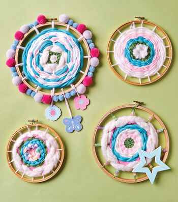 How To Make Hoop Weavings