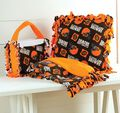Browns Pillow, Purse and Blanket Set