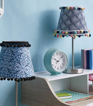 How To Make a Fabric and Trim Covered Small Lampshade
