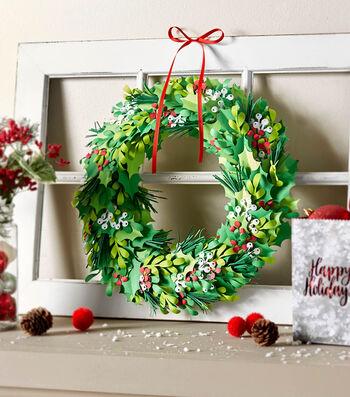 How To Make A Cricut Paper Wreath