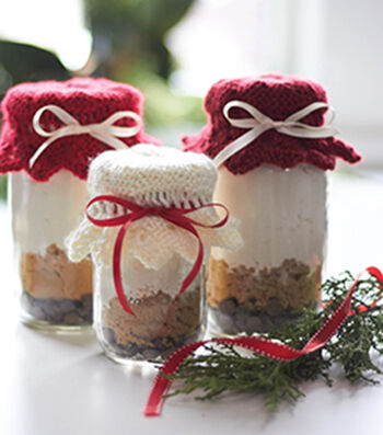 How To Make Caron Gift Jar Toppers