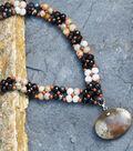 Stone Age Woven V-Shaped Pendant Necklace