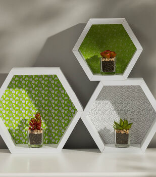 How To Make Backed Hexagon Shelves