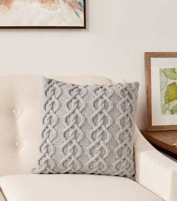 How To Make a Calico Collection Cable Knit Pillow