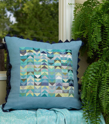 How To Make A Square By Design® Pillow with Prairie Point Trim
