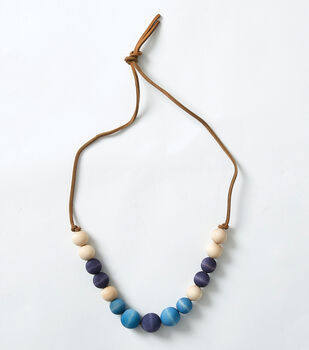 How To Make a Wood Bead Necklace