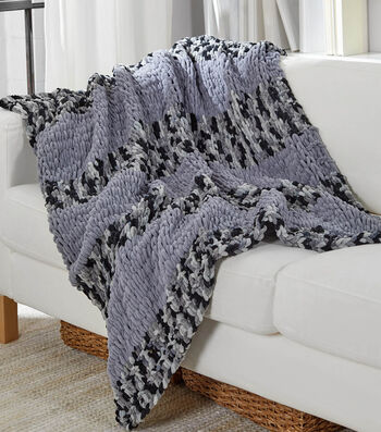 How To Make a Looping Stripes Throw