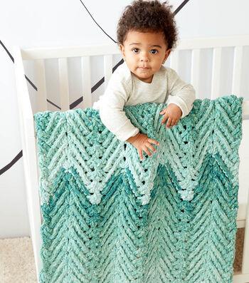 How To Make a Bernat Baby Blanket Dappled Ridged Crochet Baby Blanket
