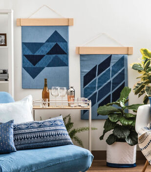 How To Make a Denim Wall-hangings