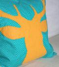 Deer Appliqued Throw Pillow