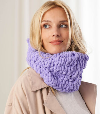 How To Make a Lion Brand Off The Hook Colette Cowl
