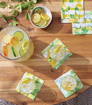 How To Make Quilted Lemon Coaster