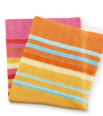 How To Make A Fading Stripes Knit Baby Blanket