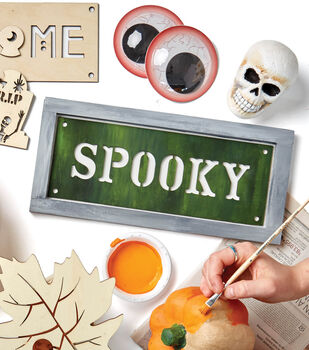 How To Make A Painted Spooky Wooden Sign