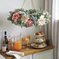How To Make a Spring Floral Hanging Chandelier