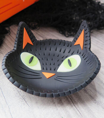 How To Make A Halloween Black Cat Trinket Dish