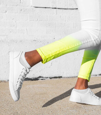 How To Make Dip-Dyed Neon Jeans