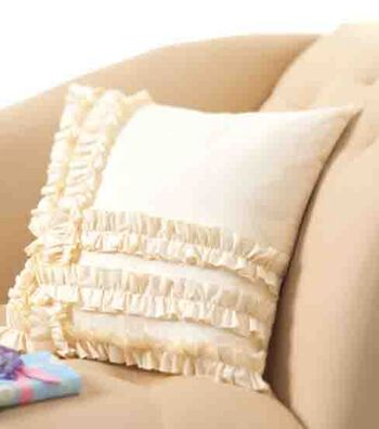 Ruffled Muslin Pillow
