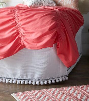 Make A Self Stick Hook & Loop Bedskirt