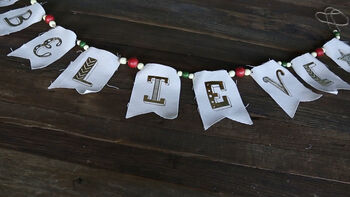 The Crafternoon 'Believe' Iron-On Garland