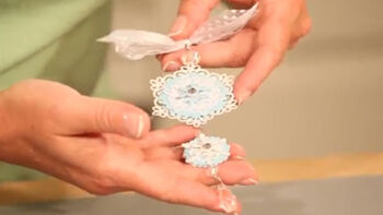 Make a fun DIY beaded snowflake ornament with Tombow