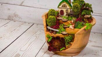 How To: Fairy Garden Broken Pot