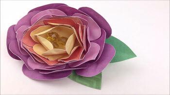 DCWV Paper Flower Brooch