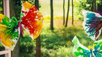How To: Tie Dye Tissue Paper Butterflies