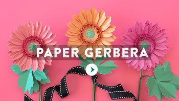 Lia Griffith Paper Gerbera Video