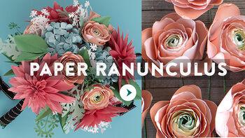 Lia Griffith Paper Ranunculus Bouquet Video