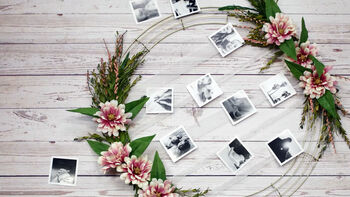 Learn to make Photo Wreath