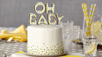 How To make DIY Marquee Fondant Cake Topper