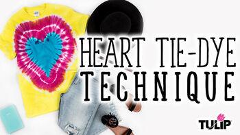 Tulip Heart Tie Dye Technique Video