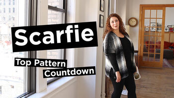 Lion Brand Scarfie Top 5 Pattern Countdown