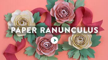 Lia Griffith Paper Ranunculus Flower Video