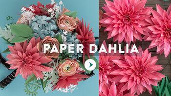 Lia Griffith Paper Dahlia Flower Video
