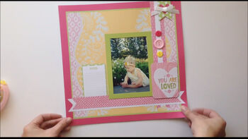 DCWV Ready Made Scrapbook Pages
