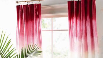 How To: Tie Dye Ombre Curtains