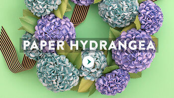 Lia Griffith Paper Hydrangea Wreath Video