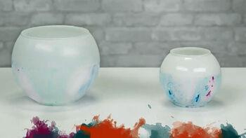 How To: Tie Dye Vases