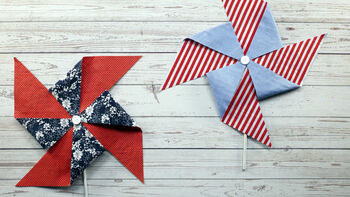 Guide to Festive 4th Fabric Pinwheels