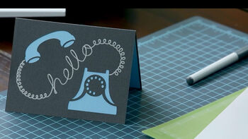 Cricut Explore Hello Card Project