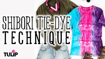 Tulip Shibori Tie Dye Technique Video