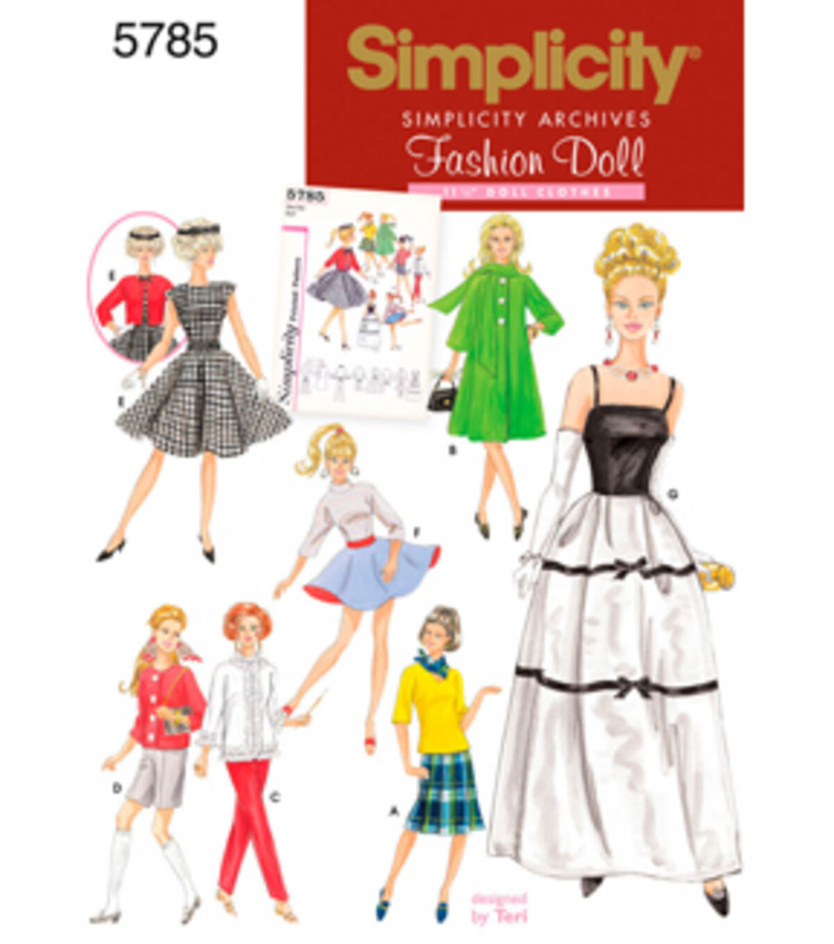 1960s – 70s Sewing Patterns- Dresses, Tops, Pants, Mens Simplicity Pattern 5785OS One Size - Simplicity Crafts $8.37 AT vintagedancer.com