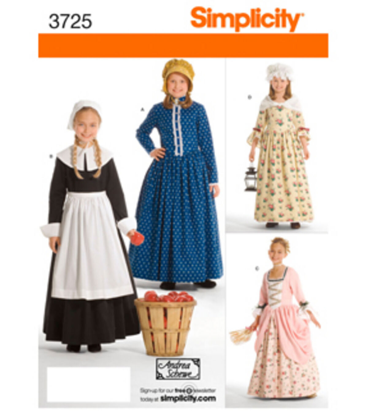 Victorian Kids Costumes & Shoes- Girls, Boys, Baby, Toddler Simplicity Pattern 3725K5 7 8 10 12 - Simplicit $12.59 AT vintagedancer.com